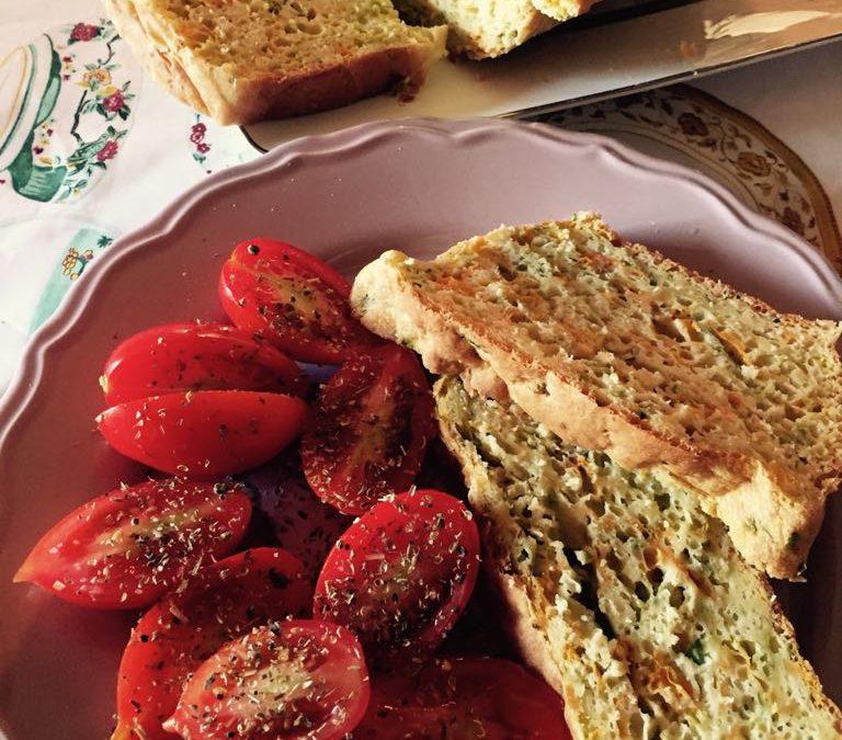 Plumcake salato di zucchine e fiori