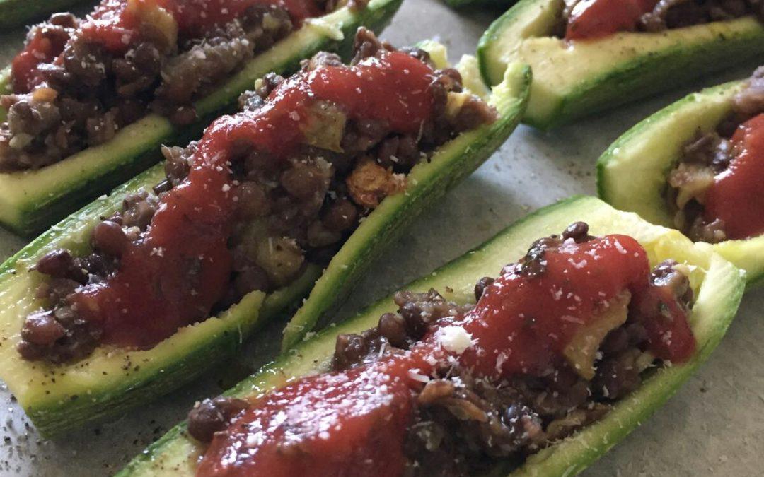 Zucchine ripiene in versione vegetariana
